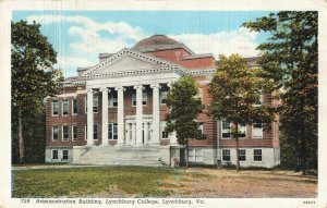 Postcard Administration Building Lynchburg College Virginia