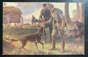 Mint Germany PPC Picture Postcard Red Cross Dog Training