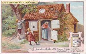 Liebig Vintage Trade Card S479 Hansel & Gretel No 4 Knupper Knupper Kneischen