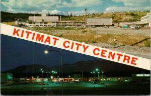 Kitimat City Centre BC British Columbia Multiview Unused Vintage Postcard D79
