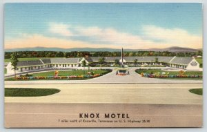 Knoxville Tennessee~Knox Motel~View from Across Highway~Large Courtyard~1940s