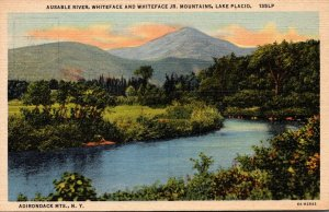 New York Lake Placid Ausable River Whiteface and Whiteface Jr Curteich