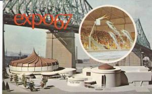 Alcan Pavilion, Alcan Dolphin Pool, Expo 67, Montreal, Quebec, Canada, 40-60´s