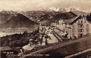 Kaltbad Und Die Berner Alpen 1798, Rigi, Switzerland, 1900-1910s