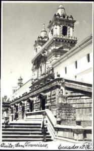 ecuador, QUITO, Iglesia de San Francisco (1940s) RPPC