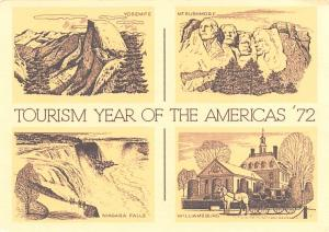 Tourism Year of the Americans 72 - Niagara Falls, Williamsburg
