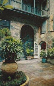 Louisiana New Orleans Brulator Courtyard 520 Royal Street 1963