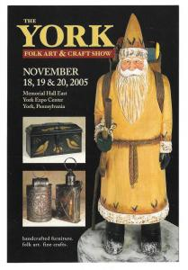 Modern Advertising Postcard York PA Folk Art and Craft Show