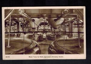 Mint Postcard Ireland RPPC Guines Brewery Dublin Mash Turns for Malt Beer