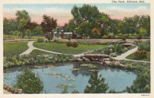 ALLIANCE, Nebraska, 1910-30s; City Park