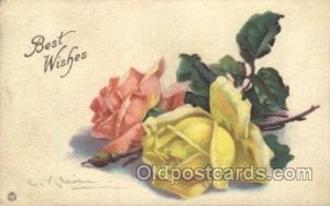 Series 705 F Artist Signed Catherine Klein 1920 some corner wear, yellowing o...