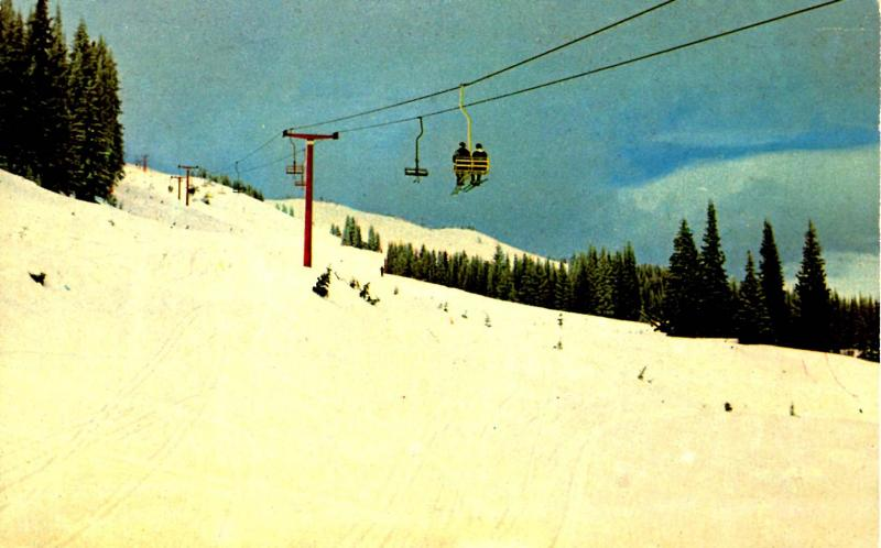 Canada - BC, Kamloops. Tod Mountain Ski Resort  (Aerial Lift)