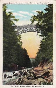 Quechee Gulf Bridge Over Ottauquechee River At Dewey's Mills Vermont Curteich