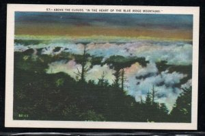 North Carolina Colour PC Above the Clouds Blue Ridge Mountains, unused
