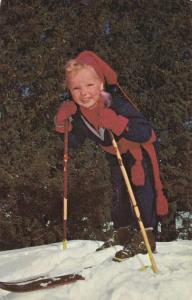 Happy child on snow skies, VAL MORIN, Quebec, Canada, PU-1989
