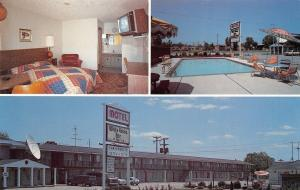 Dearborn Michigan Ave~White House Inn~Television is On~Map~Satellite Movies~1980