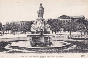 NIMES, Gard, France, 1900-1910´s; La Fontaine Pradier