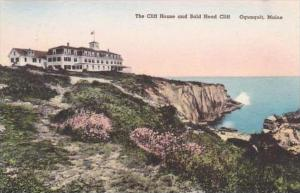 Maine Ogunquit the Cliff House And Bald Head Cliff Albertype