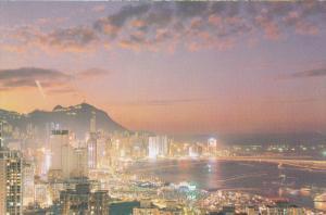 Night Scene, HONG KONG, China, 50-70´s