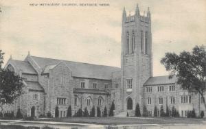 Beatrice Nebraska~New Centenary United Methodist Church~Hedges~1929 Postcard pc