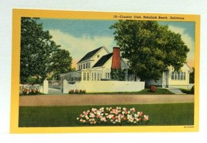 Rehoboth Beach Delaware Country Club Linen Vintage Postcard