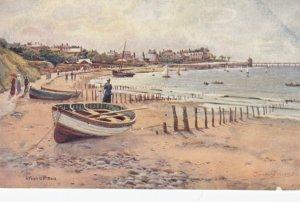 RHOS-ON-SEA, Wales, UK, 1900-10s , Boat on beach