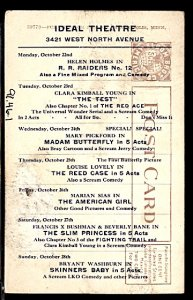 Scarce Silent Movie Schedule October1915 Ideal Theater Prob. Minneapolis MN