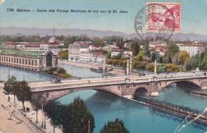 Switzerland Geneve Usine des Forces Motrices et vue sur le St Jean 1910