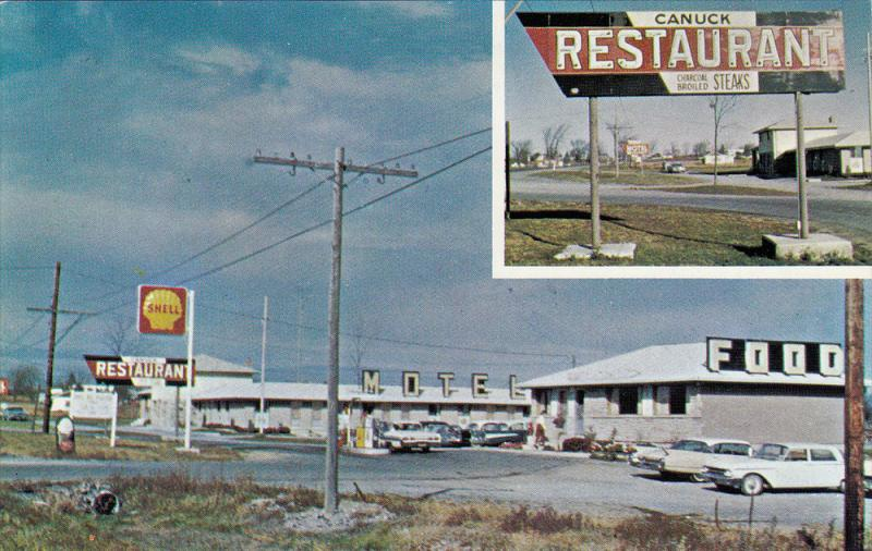 Canuck Restaurant, Shell Gas Station, Motel, NAPANEE, Ontario, Canada, 40-60´