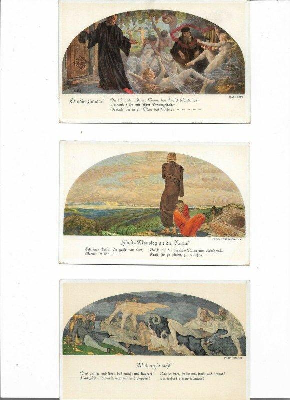 RARE ART NOUVEAU Leipzig, Auerbachs Keller Postcard Lot of 7  01.16