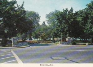 Canada Entrance To City Park Kelowna British Columbia