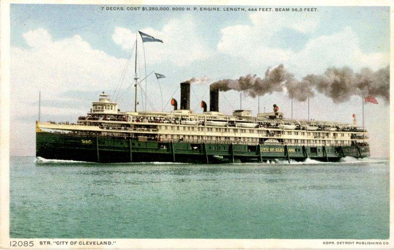 Detroit & Cleveland (D&C) Line - SS City of Cleveland