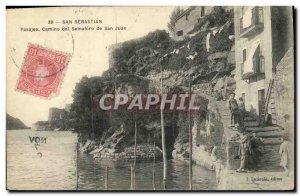 Postcard Old San Sebastian Camino del Semaforo San Juan Children