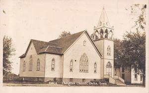 Delmar IA Home Next to Christian Church~Belltower w/Arch Openings RPPC c1919