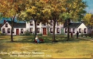 Tucks Homes Of U S Presidents Series Home Of William Henry Harrison North Ben...