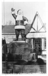 Santa Claus Indiana Statue Real Photo Antique Postcard K46396