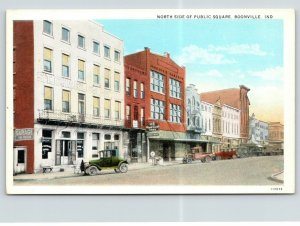 Boonville IN~N Side Square~Charles Hotel~US Royal Cord Tires~Garage in Back~1920