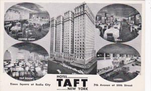 New York City Hotel Taft Coffe Shop Grill Tap Room and Lobby