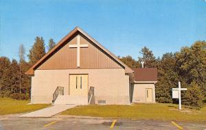 Hackensack Minnesota~Missouri Synod Lutheran Church in Woods~Signpost~1960s PC