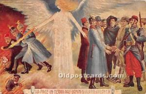 Advertising Postcard - Old Vintage Antique  Sia Pace in Terra Agli Domini Di ...