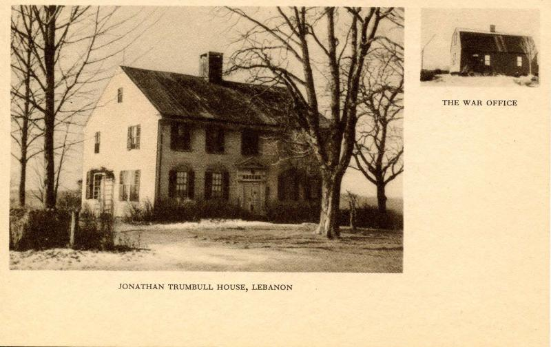 CT - Lebanon. Jonathan Trumbull House, The War Office