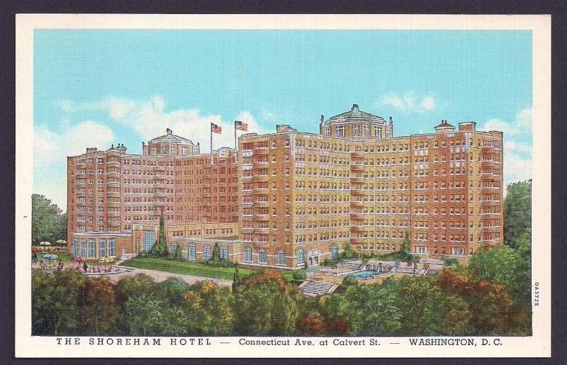 Shoreham Hotel Washington DC unused c1930's
