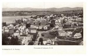 New Hampshire , Aerial view of Lakeport