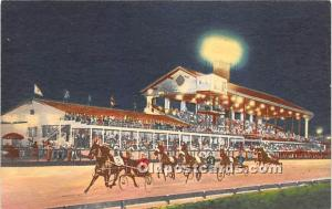 Night Trotting Races, Fairgrounds Trotting Track Louisville, Kentucky, KY, US...