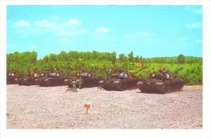 Battle Tanks on firing range, Steel Range , Fort Knox , Kentucky, 40-60s