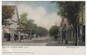 Wolfeville, N.S. Canada, Early View of Main Street Looking East
