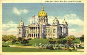 Iowa State Capitol Des Moines IA Writing on back