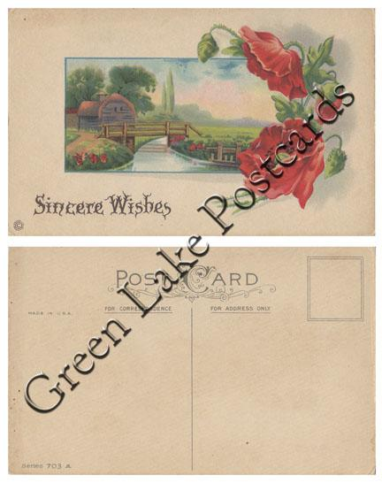 Vintage Floral Sincere Wishes