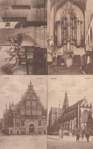 Haarlem Kerk Kathedraal Church Cathedral 4x Antique Dutch Postcard s
