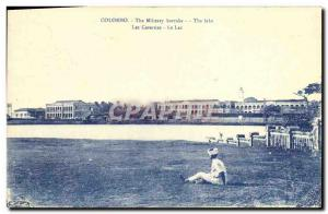 Old Postcard Colombo Sri Lanka The Milistary Barraks
